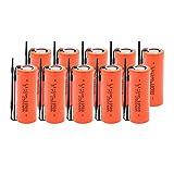 MGLQSB 3.7v 18500 2500mah Lithium Ionen Batterie, Ersatzbatterie Taschenlampe Ersatzbatterien 10pieces