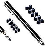 MobiLinyi Premium Touchstift schwarz mit 20 x Ersatzspitzen Eingabestift Stylus Touch Pen kompatibel mit Apple iPhone iPad Samsung Huawei Sony Honor Cubot Smartphones und Tablets