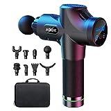ABOX Massagepistole für Nacken Schulter Rücken Massage Gun Massagegerät Elektrisch Entspannen mit 8 Massageköpfen und 30 Geschwindigkeiten Vibrationsgerät Muskel, Schwarz, Upgrade-Version