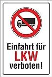 WERBEPUNKT. Schild Einfahrt für LKW verboten, 3 mm Alu-Verbund 600 x 400 mm