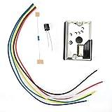 PM2.5-Sensor, hochpräzises Luftqualitätserkennungssensormodul Staubsensor, Pm2.5 Luftpartikelmonitor Elektronische Komponenten GP2Y1014AU0F, 5-7V, für Luftreinig