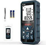 Entfernungsmesser, DTAPE DT100 100M Digitales Laser Entfernungsmesse mit LCD Hintergrundbeleuchtung M/In/Ft mit Mehreren Messmodi wie Pythagoras/Abstand/Fläche/Volumen Messungen,IP54