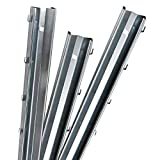 Aquagart Z-Profil Zaunpfosten 1,5 m verzinkt I 30 Stück Metallzaunpfosten aus Bandstahl 1,2mm stark I hochwertige Zaunpfähle für Wildzaun Weidezaun Drahtzaun Wildschutzzaun Knotengeflecht Zaun
