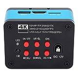 AC100-240 V UHD 4K 1080P USB Industry Digitale C-Mount Mikroskopkamera mit Datenkabel und Fernbedienung für die Fernbedienung zur Reparatur der Telefon CPU Platine(EU)