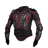 YOUCAI Motorrad Schutz Body Protector Safty Jacket Protektoren Hemd Brustpanze Motorrad Schutz Protektoren Motorradjacke Hemd Brustschutz Schutzjacke,Rot,S
