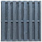 vidaXL Bohlenzaun-Paneel Zaun Gartenzaun Sichtschutz Kiefernholz 180×180 cm Grau