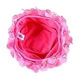Amosfun Schwimmmütze aus Nylongewebe Blumen Badehüte Elastische Badekappen für Frauen Mädchen (Pink)