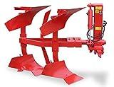Wallentin & Partner | zweischarpflug | 2 Schar Wendepflug 50 cm | Pflug Kleintraktor ab 30 PS | Zweischariger Pflug 170 kg | Zweischariger Drehpflug Traktor Dreipunktanbau Kat. 1