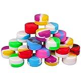 50 Stück Antihaft-Silikonwachs-Behälter, 5 ml, vielseitig verwendbar, Aufbewahrungsdosen für Cremes, verschiedene Farben