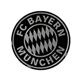 FC Bayern München Autoaufkleber - 3D Logo schwarz-Silber - FCB Sticker, Aufkleb