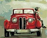 Rahmenlose DIY-Malerei nach Zahlen Junge Bild nach Zahlen für Erwachsene Moderne Wandkunst Dekore Handbemalt DIY Geschenk A20 60x75cm