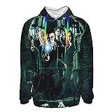 Ha-Rry Poster Po_Tter Herren Hoodies Langarm Pullover Sweatshirts Pullover Gr. XXL, Schwarz