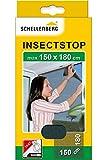 Schellenberg 20409 Fliegengitter Insektenschutz für große Fenster, Mückenschutz inkl. Klebestreifen, ohne Bohren, 150 x 180 cm,