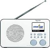 TechniSat VIOLA 2 C IR - tragbares Internetradio (DAB+, UKW, WLAN, 2.4 Zoll Farbdisplay, Kopfhöreranschluss, Wecker, Sleeptimer, 3 Watt RMS, Akku, Netzteil) weiß/schw