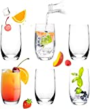 Elegante Trinkgläser aus Glas 320ml Set 6 Teilig Wassergläser Saftgläser Longdrinkgläser groß