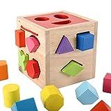 Babyspielzeug, 5 * 15 * 15,5 cm Frühpädagogisches Spielzeug Geometrieblöcke Maching Toy, Form passende Intelligenzbox für Bildung Baby