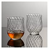 chenchen Nordeuropa Light Luxury Scotch Whisky Snifter Anmutige Tulpe Copita Nosing Glas Tumbler Whisky Brandy XO Wein-Tasting-Tasse (Capacity : 270ml, Color : 2 Pieces)