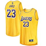 Gold -Sportssweat Basketball Trikot Los Sportswear Angeles Herren LeBron Polyester #23 Fast Break Jersey Icon Edition L gold