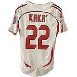 22 Anzahl Kaka 07 Saison Retro Herren-Fußball-T-Shirt, Inzaghi Fans Fußballtrikot Top Quick Dry Personalized Customized mit Doppel Armbinden NO.22-M