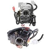 ZJL220 PD24J Vergaser für 4-Takt GY6 125ccm 150ccm ATV Go Karts Roller Mopeds QMJ / QMI157 QMJ / QMI152 - Verteiler-Ansaugdurchmesser 24mm PD24J Vergaser