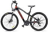 Ebike e-Bike, 27.5' Electric Trekking/Touring Bike, Elektro-Fahrrad mit 48V / 17Ah Wasser- und staubdicht Lithium-Ionen-Batterie, Elektro Trekkingrad for Touring (Color : Red)