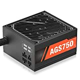 ARESGAME PC-Netzteil 750W Semi-Modulares Kabelmanagement 80Plus Gold (AGS750)