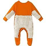 Baby Mopp Strampler Outfit Kleinkind Kriechen Overall Junge Mädchen Polituren Fußböden Reinigung Mop Schlafstrampler 18-24 Monate