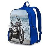 Triumph Motorrad-Rucksäcke für Erwachsene, modische tragbare Computer-Taschen, Aufbewahrungstaschen, Reisen, Bergsteigen, multifunktionale Arbeits- und Lernrucksäcke Gr. One size, blau