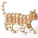 Kinderpuzzle 3D Holzpuzzle Spielzeug Montage DIY Tier Katze Spielzeug Puzzles Holz Bastelsets Schreibtisch Dekoration für Kinder Kind