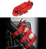 MARCHFA Auto Feuerlöscher Halterung Halter Kompatibel für Wrangler Unlimited CJ YJ LJ TJ JK (Rot)