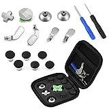 Zerone Controller Ersatzteile Kit für PS4 / Xbox One, 15 in 1 Thumbsticks Buttons D-Pad mit Schraubendreher Kappen Trigger Analog Sticks Set für Sony Playstation 4 / Xbox One Elite