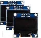 Sun3drucker 3stk 0,96 Zoll 128x64 OLED I2C Display I2C IIC Seriell SSD1306 für Arduino und Raspberry Pi Weiß Licht
