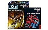 EXIT Kosmos 694043 Spiel - Das Haus der Rätsel - Die DREI??? Level: Einsteiger, Escape Room Spiel + Die DREI ??? und das unheimliche Labyrinth (Taschenbuch)