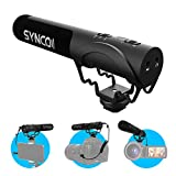 SYNCO Kamera Mikrofon, Richtmikrofon DSLR Shotgun Video Externes Microphone Kondensator Super-Kardioid mit Windschutz 3,5mm TRS/TRRS für Canon Sony Nikon Panasonic, Smartphone Handy Camcorder Mic-M3