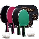 Senston Ping Pong Paddel Set von 4 Pro Premium Tischtennisschläger