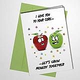 Unhöfliche Geburtstagskarte zum Valentinstag mit Umschlag, witzig, für Frauen und Männer und Frauen, innen unbeschriftet