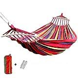 190x150cm Hängende Hängematte mit Streuer Bar Doppel/Single Erwachsene Starke Swing Chair Reise Camping Schlafsbett Gartenmöbel, WQQWQQ-8521 (Color : Red 190x150cm)