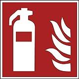 Aufkleber Brandschutzzeichen'Feuerlöscher' Symbol Schild 5-40cm Folie selbstklebend nach ISO 7010 made by MBS-SIGNS in Germany, Größe: 5x5cm