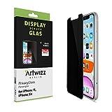 Artwizz PrivacyGlass Schutzglas designed für [iPhone 11 / XR] mit Privacy-Effekt - Displayschutz mit 100% Abdeckung, Anti-Spy-/Blickschutz-Funktion