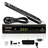 PremiumX HD 521 FTA Digital SAT TV-Receiver DVB-S2 FullHD HDTV Satelliten-Receiver HDMI SCART 2X USB Multimedia-Player, 12V Externe Netzteil
