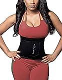 SHAPERX Waist Trainer Corset, Damen/Männer Taillengürtel Geburt Bauch Weg Body Shaper Verstellbar Taillenmieder Gürtel für Weight Loss,UK-DT8010-Black-S