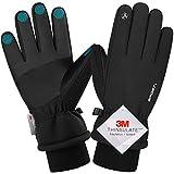 Songwin wasserdichte Winterhandschuhe, 3M Thinsulate Warme Touchscreen Handschuhe für Herren und Damen, Fahrradhandschuhe für Reiten Laufen Skifahren Wandern Radfahren (M)