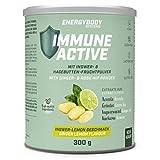 Energybody Immune Active | Drink mit Superfoods | Unterstützung des Immunsystems mit wichtigen Vitaminen und Mineralstoffen | Mit L-Glutamin | 300 g Pulver, 30 Portionen | Leckerer Lemon-Geschmack
