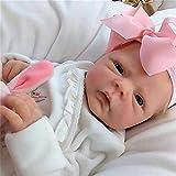 ZXYMUU Wiedergeborenes Baby Puppe Mädchen Silikon 18 Zünd / 46cm Weichgewichtiger Körper Mini Ganzkörper Reborn