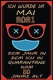 MAI 2021 Mein 50 Geburtstag Feiern Unter Quarantäne: 50 geburtstag Geschenkideen Für - Männer - Papa - Mama   Lustige Geschenkidee  Notizbuch A5