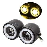Yiianger Motorrad-Scheinwerfer, Doppel-LED-Hauptscheinwerfer, runder Scheinwerfer, Angel Eyes, Arbeitsscheinwerfer, Motorrad-Nebelscheinwerfer für C-G125