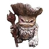 Lubudup Fee Pilz Elfe, Figur aus Hochwertigem Resin Fee Pilz Elfe Schamane Zauberer Troll Gartendeko, 12cm