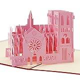 3D Pop Up Grußkarte Dankeskarte Geschenkkarte Freundschaftskarte Glückwunschkarte Kunstkarte für Kindergeburtstag Jugendliche Jungen Mädchen (Notre Damedeparis)