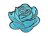 Patches Set Patch Rosen Aufbügel-Patch Aufnäher-Patches Jacke Shirt Cap Hosen Patches-Set von ALSINO, Variante wählen:PAT-152-4 Rose türkis