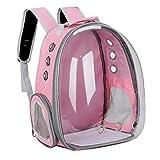 MICHAELA BLAKE Doppelt-Schulter-bewegliche Breathable Haustier-Fördermaschine-Rucksack für Hunde Katzen im Freien Spielraum Rosa